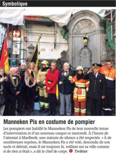 Capitale Manneken pompiers